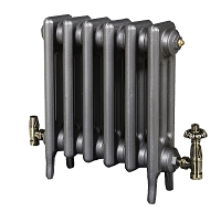 Eastgate Victoriana 3 Column 6 Section Cast Iron Radiator 645mm High x 396mm Wide - Metallic Finish